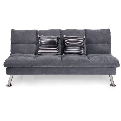 Marcie Fabric Sleeper Sofa with 2 Pillows Upholstery: Grey