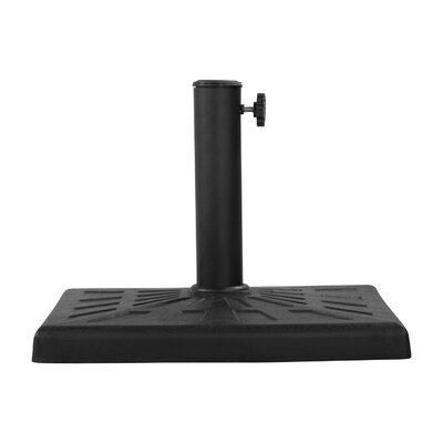 Katlin Resin Free Standing Umbrella Base Finish: Black