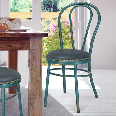 Vintage Metal Side Chair Finish: Teal