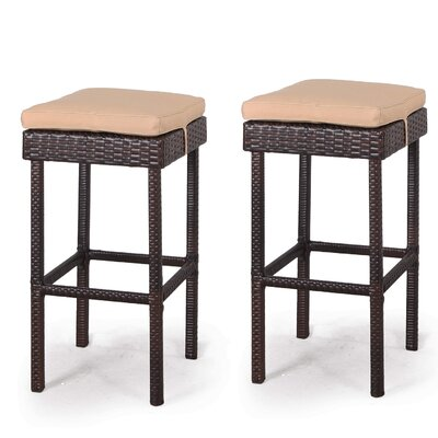 Guilderland 3 Piece Wicker Patio Bar Set
