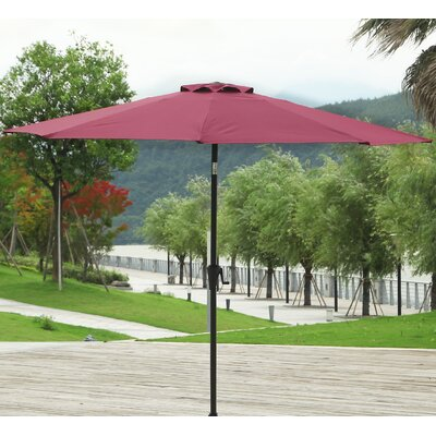 9 Market Umbrella Fabric: Wine Red