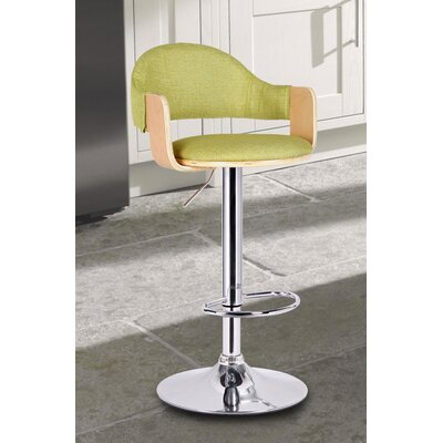 Adjustable Height Swivel Bar Stool Seat Color: Lemon Green
