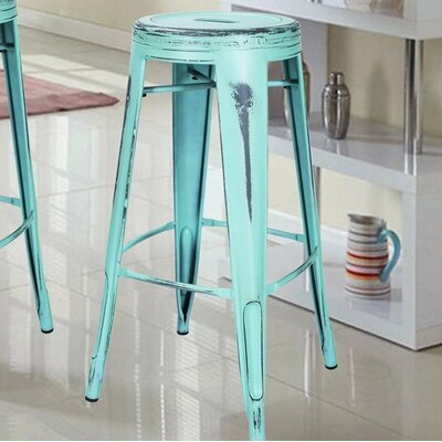 30 Bar Stool Finish: Sky Blue