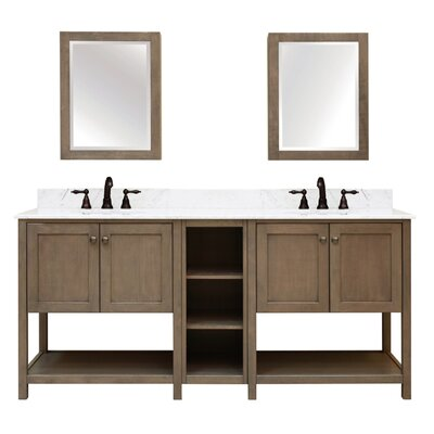 Aiden Bath 2-Shelf Modular Component Vanity Base