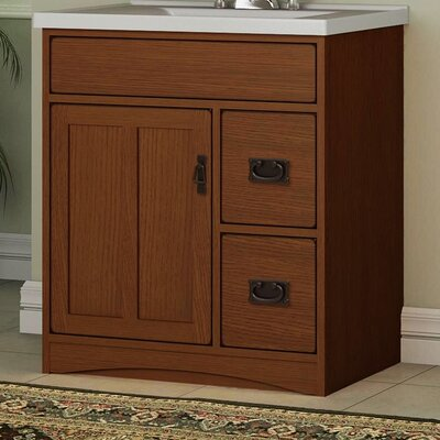 "Mission Oak 30"" Bathroom Vanity Base"