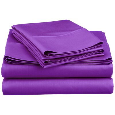 Super Bright Sheet Set Size: Full, Color: Purple