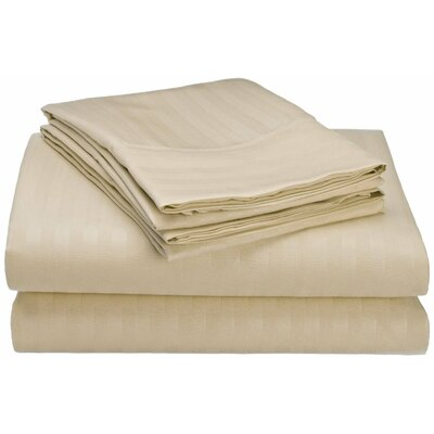 Hampton 4 Piece Sheet Set Color: Ivory, Size: King