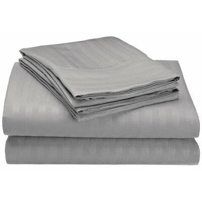 Hampton 4 Piece Sheet Set Size: Full, Color: Gray