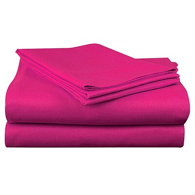 Super Bright Sheet Set Size: Twin, Color: Pink