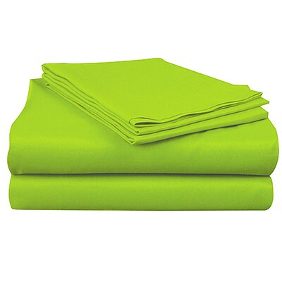 Super Bright Sheet Set Color: Lime, Size: Queen
