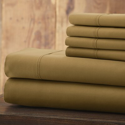 Bailee 6 Piece 1800 Series Sheet Set Size: King, Color: Gold