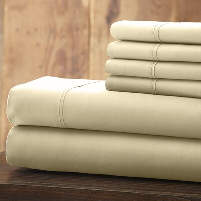 Bailee 6 Piece 1800 Series Sheet Set Size: King, Color: Ivory