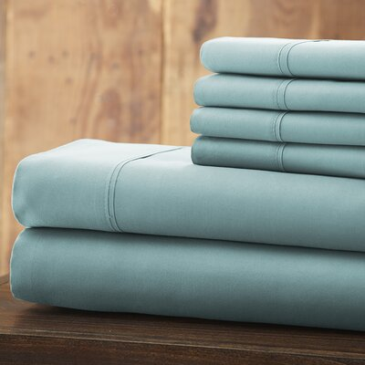 Bailee 6 Piece 1800 Series Sheet Set Size: Queen, Color: Light Blue