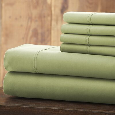 Everyday Essentials 6 Piece 1800 Series Sheet Set Color: Sage, Size: Queen