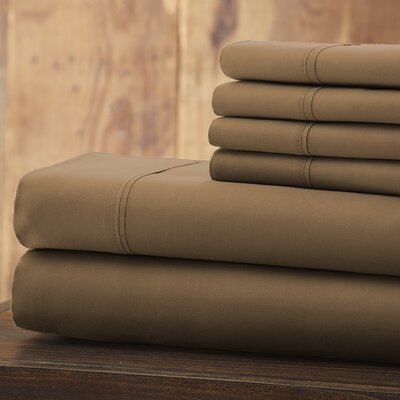 Bailee Series Sheet Set Size: Queen, Color: Taupe