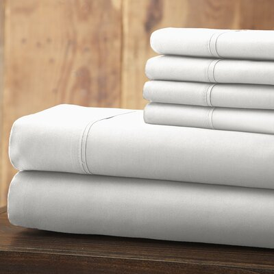 Everyday Essentials 6 Piece 1800 Series Sheet Set Color: White, Size: King