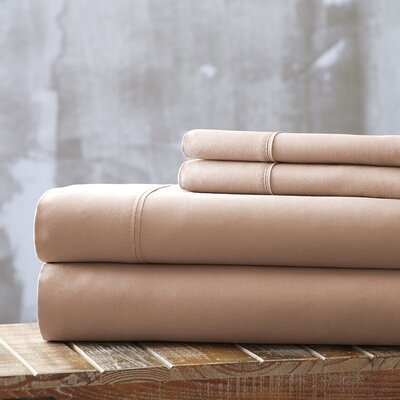 Bailee 4 Piece Sheet Set Size: King, Color: Champagne