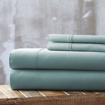 Bailee 4 Piece Sheet Set Size: King, Color: Light Blue
