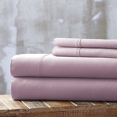 Bailee 4 Piece Sheet Set Size: King, Color: Rose