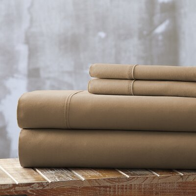 Everyday Essentials 1800 Thread Count 4 Piece Sheet Set Color: Taupe, Size: Full