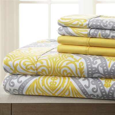 Aldridge Microfiber 6 Piece Sheet Set Size: King