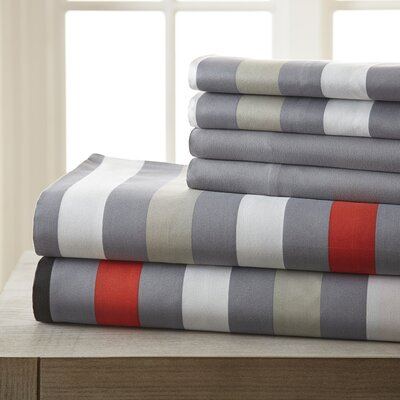 Hamptonburgh 6 Piece Microfiber Sheet Set Size: King
