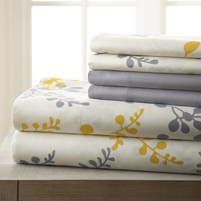 Arcadios 6 Piece Sheet Set Size: Queen