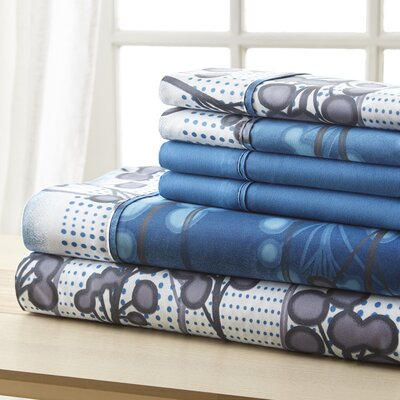 Socorro Blue Branches Sheet Set Size: Queen