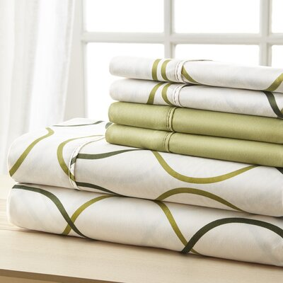 Socorro Green Circles Sheet Set Size: Queen