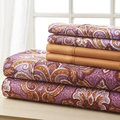 Weyerbacher Orange Medallion Sheet Set Size: Full