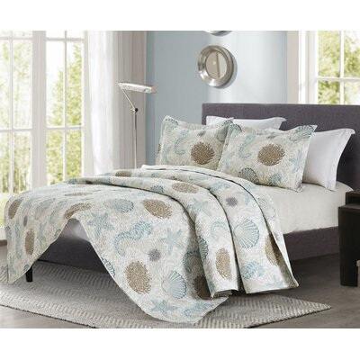 Daisy 3 Piece Quilt Set Size: King
