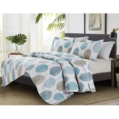 Horsley 3 Piece Quilt Set Size: King