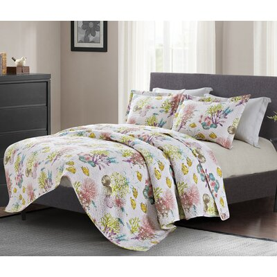 Daisy Modern 3 Piece Quilt Set Size: King