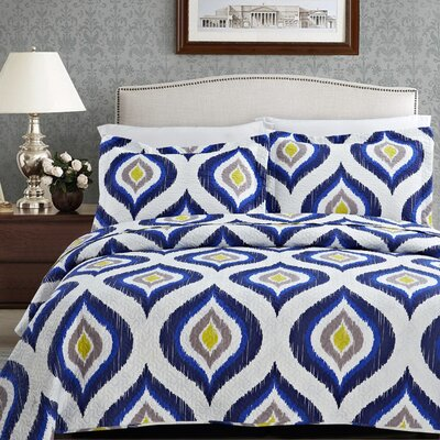 Mcpherson 3 Piece Quilt Set Size: King