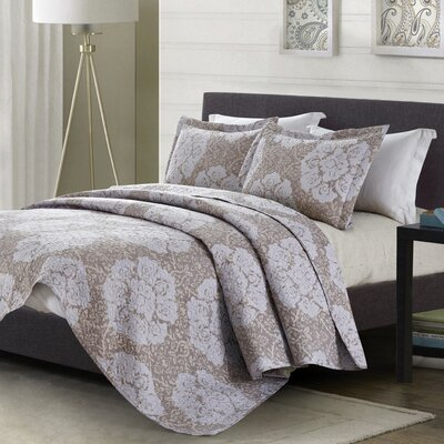 Horsley Modern 3 Piece Quilt Set Size: Queen