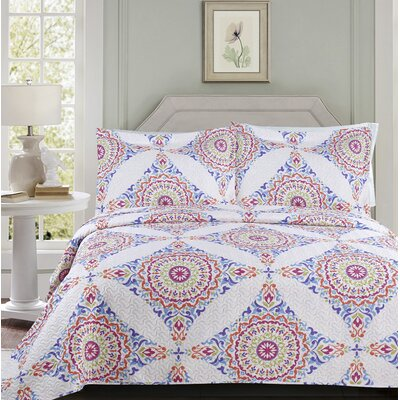 Melloul 3 Piece Quilt Set Size: King