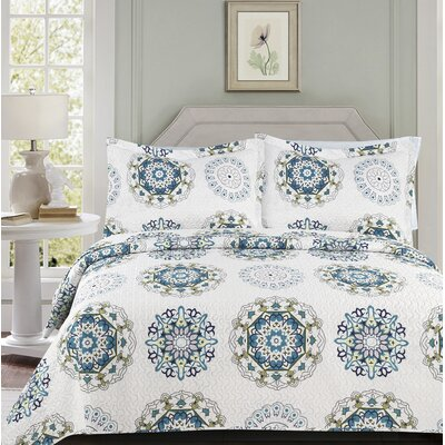 Allison Modern 3 Piece Quilt Set Size: King