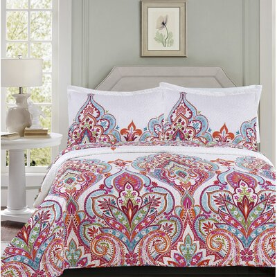 Melloul Modern 3 Piece Quilt Set Size: King
