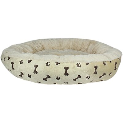 Paw Prints Dog Bed Color: Khaki