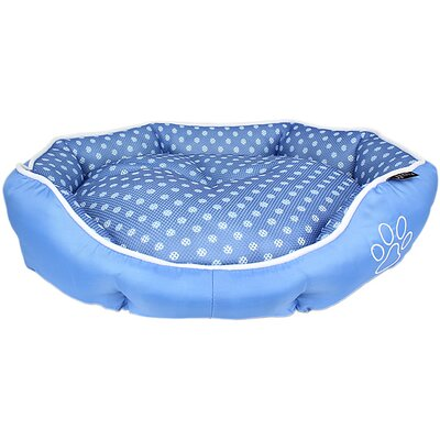 Polka Dot Dog Bed Color: Blue
