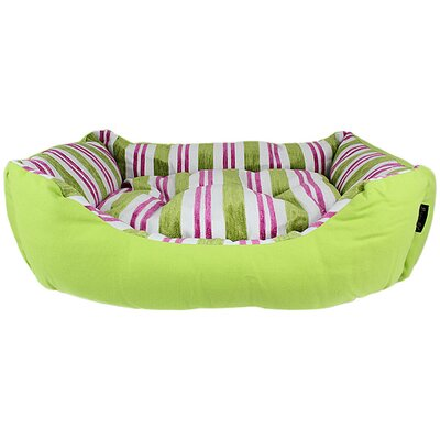 Canvas Striped Dog Bed Color: Green
