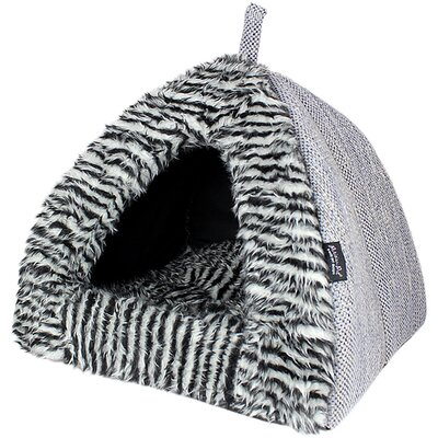 Cabana House Dog Bed Color: Gray
