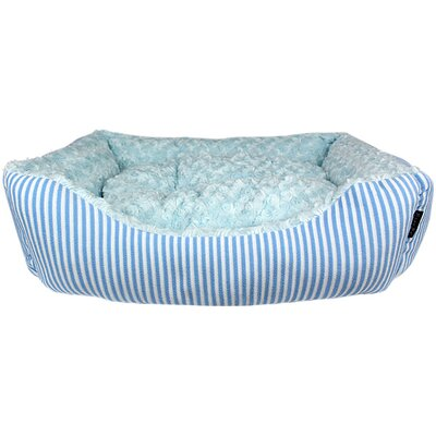 Malibu Striped Dog Bed Color: Blue