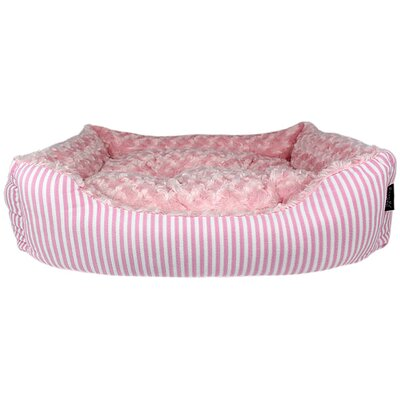 Malibu Striped Dog Bed Color: Pink
