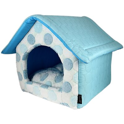 Cotton Candy House Dog Bed Color: Blue