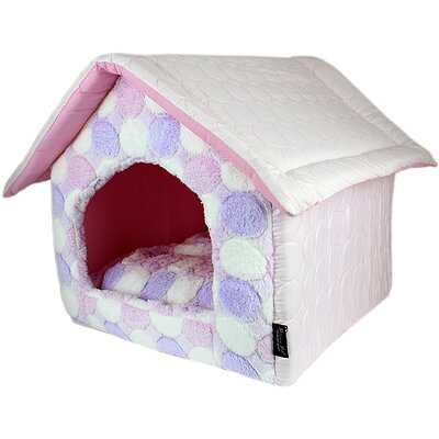 Cotton Candy House Dog Bed Color: Pink
