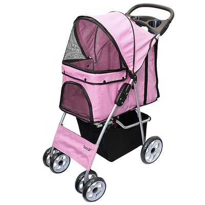 Parisian Pet Stroller Color: Light Pink