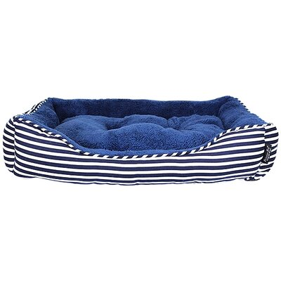 Striped Bolster Dog Bed