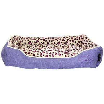 Safari Bolster Dog Bed Color: Purple
