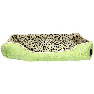 Safari Bolster Dog Bed Color: Green